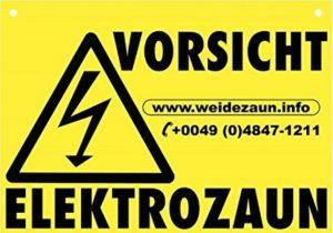 Vorsicht Elektrozaun